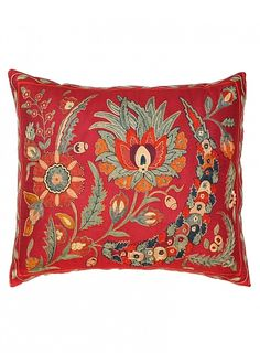 Suzani Pillow, Harvest pillow. Seret & Sons.