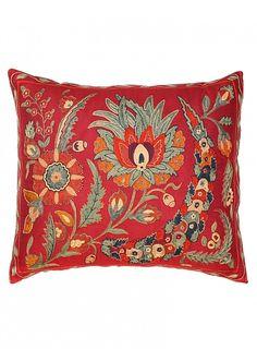 Suzani Pillow, Harvest pillow. Seret & Sons.
