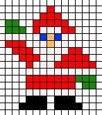 kerstman borduren