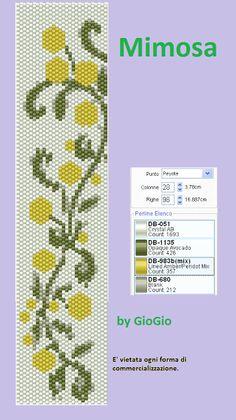 Giogiò & Co: Grids / pattern peyote Peyote Beading Patterns, Peyote Stitch Patterns, Seed Bead Patterns, Beaded Bracelet Patterns, Loom Beading, Seed Bead Flowers, Beaded Banners, Brick Stitch Earrings, Cross Stitch Bookmarks