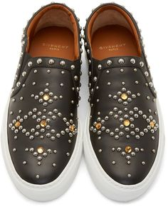 Givenchy Black Studded Slip-On Sneakers