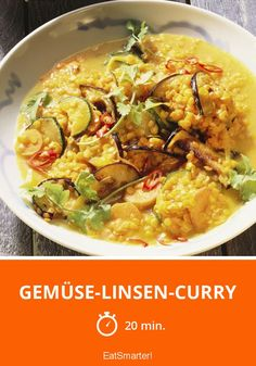 Gemüse-Linsen-Curry - smarter - Zeit: 20 Min. | eatsmarter.de