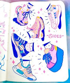 Working on filling up this mini sketchbook with tones of posca doodles! ✨✨… Working on filling up this mini sketchbook with tones of posca doodles! ✨✨ Also how cool r sneakers? I need more pastel ones tbh ✨… Marker Kunst, Marker Art, Kunstjournal Inspiration, Sketchbook Inspiration, Sketchbook Ideas, Art Inspiration Drawing, Pretty Art, Cute Art, Posca Art