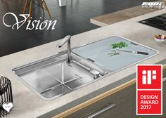 RODI INSISTS AND PERSISTS TO HIGHLIGHT ITS DESIGN! VISION is not just a kitchen sink, it is also an awards collector. Adding to A' Design Award 2016 and German Design Award 2017, it has just won an iF DESIGN AWARD 2017. Congratulations, RODI!