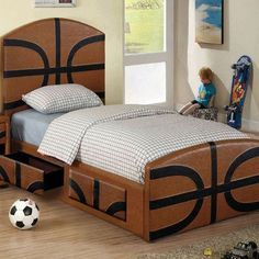 simple 2 person basketball bedrooms for girls - Google Search