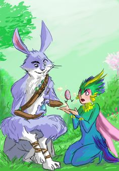 Bunnymund and Toothiana #sweet_tooth