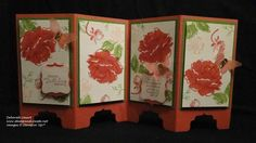 """2014 TECHNIQUE it's called """"two-step"""" stamping; first you stamp your lighter color as the solid flower shape, then stamp your darker color detail stamp on top. It creates terrific depth with almost no effort The Stippled Blossoms stamp , Fancy Fold Cards, Folded Cards, Warm Colors, Light Colors, Screen Cards, Die Cut Cards, Card Maker, Flower Shape, Pinwheels"""