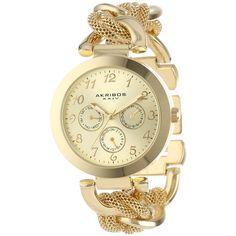 Akribos XXIV Multi-Function Mesh Link Bracelet Watch $54