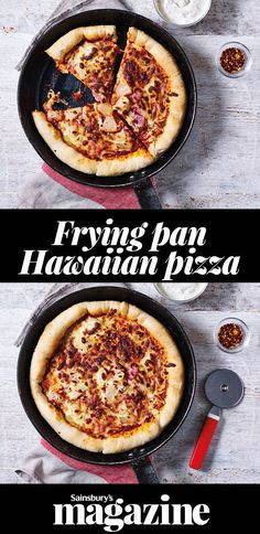 You can't beat a good pizza and cooking this retro deep-dish in a frying pan makes a perfect super-crisp base and fluffy crust that you don't want to miss Pizza Recipes, Crockpot Recipes, Dog Food Recipes, Diet Recipes, Recipies, Flatbread Pizza, Dog Snacks, Food Allergies, Food Preparation