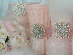 shabby pink ornaments | Wedding Centerpiece, Wedding Decorations, Pink, Shabby Chic Wedding ...
