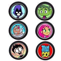 12 TEEN TITANS birthday party CUSTOM AGE cupcake topper /food picks 10th Birthday, Birthday Party Themes, Teen Titans Go Characters, Homemade Stickers, Party Items, Birthdays, Food Picks, Crafts, Titanic