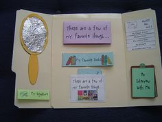 All About Me Lapbook. Love her idea of doing it annually as a record...