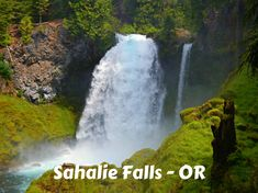 A coffee mug featuring Sahalie Falls on the McKenzie River - Cascade Range - OR Travel Bugs, Coffee Mugs, Waterfall, Outdoors, Range, River, Nature, Photography, Cookers