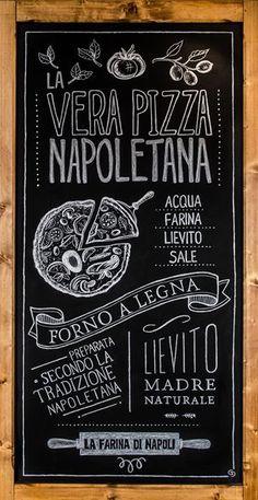 View full picture gallery of Pizzeria Babbo Restaurant Branding, Chalkboard Restaurant, Blackboard Menu, Chalkboard Lettering, Chalkboard Designs, Pizza Restaurant, Restaurant Design, Chalkboards, Farmhouse Restaurant