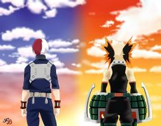 Création personnelle. Deux de mes personnages préférés #mha #bakugo #todoroki Creations, Anime, Movies, Movie Posters, Artworks, Drawings, Characters, Films, Film Poster