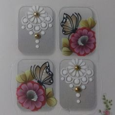 One Stroke Nails, Manicure Y Pedicure, Nail Designs, Nail Art, Stickers, Tattoos, How To Make, Beauty, Nail Stickers