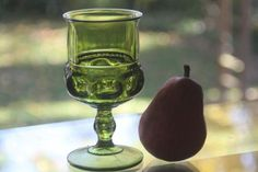 Indiana Glass King's Crown water goblet