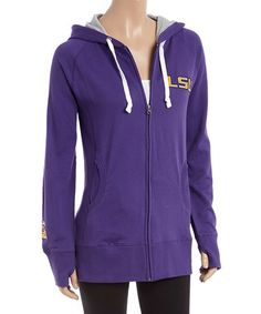Another great find on #zulily! LSU Tigers Long Zip-Up Hoodie - Women #zulilyfinds