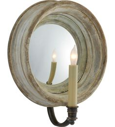 Visual Comfort E.F. Chapman Chelsea 1 Light Decorative Wall Light in Old White CHD1186OW photo