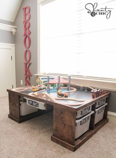 Hey there! Join us on Instagram and Pinterest to keep up with our most recent projects and sneak peeks! Hey hey friends! I set out on a mission a few months ago to build my now 4 year old the perfect train table to satisfy his love obsession. I am pleased to report that {...Read More...}