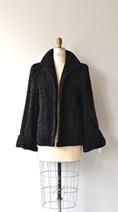 astrakan swing coat 1950s persian lamb coat by deargolden
