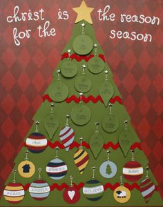 Love this idea for an Advent Calendar. It includes daily scripture reading and focuses on the true meaning of Christmas instead of gifts.