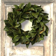 Jane Seymour Green Magnolia 24-in. Wreath - Our Jane Seymour Green Magnolia 24-in. Wreath will bring a delightful, realistic burst of nature's colors, without harming a single leaf. ...