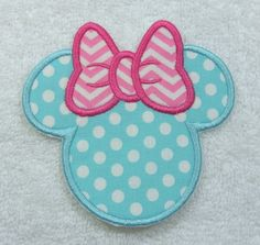 Minnie Mouse Silhouette Fabric Embroidered by TheAppliquePatch