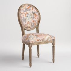 One of my favorite discoveries at WorldMarket.com: Aerin Botanical Paige Round Back Dining Chairs Set of 2