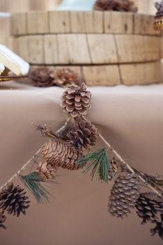 camping bridal shower- decorate with pine cones
