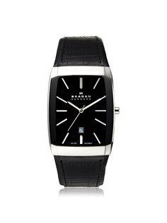 Skagen Men's 984LSLBB Black Label Stainless Steel Watch