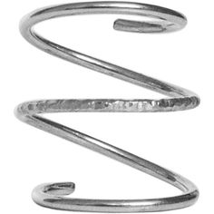 Dutch Basics - Silver Spiral Ring ($120) ❤ liked on Polyvore featuring jewelry, rings, spiral ring, silver knuckle rings, handcrafted silver rings, handcrafted jewelry and handcrafted rings