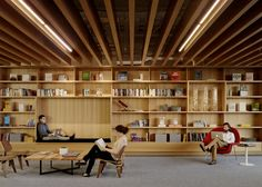 Square's new 200,000 sq ft headquarters features a library and lounge space among many other amenities.   http://www.bcciconst.com/what-we-build/interiors/square/