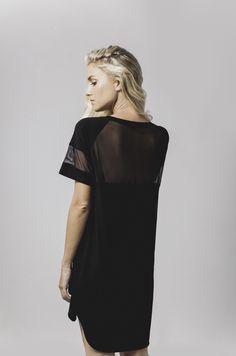leesa mesh trim sleep nightie in black available now @ marceau.com.au Pyjamas, Summer 2015, Mesh, Sleep, Range, Beautiful, Black, Tops, Women
