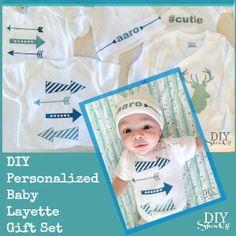 DIY personalized baby layette gift set @diyshowoff