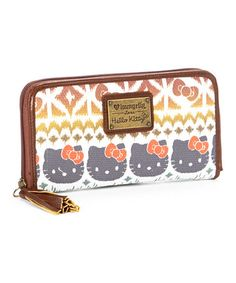 Look what I found on #zulily! Hello Kitty Boho Ikat Wallet by Loungefly #zulilyfinds