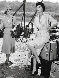 "gatabella: "" Grace Kelly and Ava Gardner in Mogambo, 1953 """