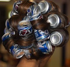 Well I went out to get me a cold pop. Then I thought somebody was BBQ, I said o laud jesus I gotta do my hair.