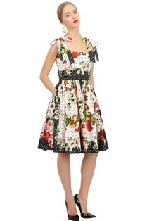 Dolce Gabbana PRINTED COTTON POPLIN DRESS