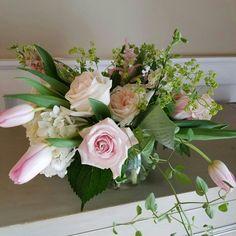 Blush colored spring arrangement.  In bloom, ltd.