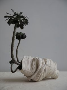 An Artist Creates Ceramic Sculptures That Mimic Machine Methods - Ceramic Art, Ceramic Pottery Ceramic Pottery, Ceramic Art, Slab Pottery, Ceramic Bowls, 3d Prints, Paperclay, Arte Floral, Wabi Sabi, Ikebana