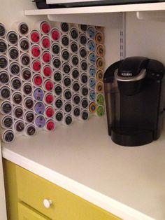 Mug Storage solutions. 49 Modern Mug Storage solutions Ideas. K Cup Storage solution Ikea Lined with Burlap Keurig Storage, Coffee Cup Storage, K Cup Storage, Camper Storage, Kitchen Storage, Modern Mugs, Simple Kitchen Design, Rv Organization, K Cups
