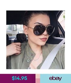 d61f8e38bb2e Women Large Oversize Fashion Aviator Metal Flat Top Fashion Sunglasses  ebay   Fashion Designer Glasses