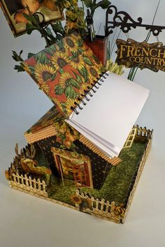 Designs by Shellie: ALTERED ART PROJECTS: BIRDHOUSES W/ NOTE PAD & STORAGE - W/ GRAPHIC 45 FRENCH COUNTRY