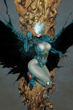 Raven by Kenneth Rocafort. I really like the new 52 Raven. There's definitely a little something evil there but you still feel bad for her. Raven Comics, Dc Comics Heroes, Dc Comics Characters, Dc Comics Art, Comics Girls, Comic Book Heroes, Comic Book Artists, Comic Artist, Comic Books Art