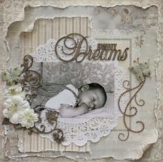 Hello, Vicky blogging today to share a layout I created using a picture of my first born as an infant (11 years ago!). This is one of my f...