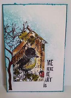Gewoon doen (blog) Kinds Of Birds, Diy Cards, Art Journals, Bees, Stamps, Journey, Houses, Fun, Inspiration
