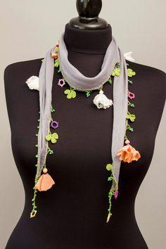 Clearance sale Turkish oya scarf turkish yemenihand by SenasShop