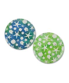 Take a look at this Coastal Brush Round Dinner Plate Set by Cypress Home on #zulily today! $11 !!