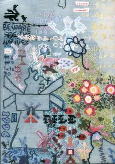 Modern embroidery you could eat (not literally). Found via One Good Bumblebee Sacha Spencer Trace, stylist Stacey Williams, embroidery designer Debbie Stack for Tank Magazine Tilleke Schwarz. More lovely images to be found here Contemporary Embroidery, Modern Embroidery, Embroidery Thread, Portrait Embroidery, Textiles Sketchbook, African Textiles, Motif Floral, Textile Artists, Fabric Art